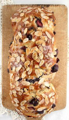 Fresh Cherry & Chocolate Chip Maple Challah from lifesafeast.blogspot.fr