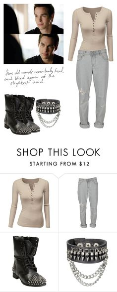 """""""Kai Parker - tvd / the vampire diaries"""" by shadyannon ❤ liked on Polyvore featuring Doublju, Insight 51 and Steve Madden"""