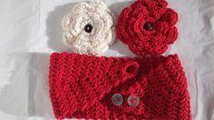 Valentine Romance Crochet Headband Earwarmer