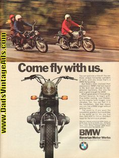 1971 BMW ''Come Fly With Us'' Motorcycle Ad