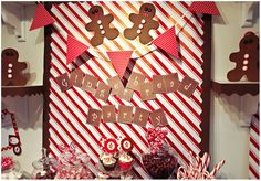 Love the gingerbread!  Must do the polka dot pennant over the fireplace next year.
