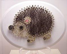 Handmade hedgehog string art. Forest. Woodland by Stringlandia
