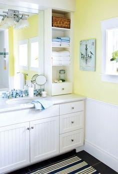 Lovely Yellow Bathroom