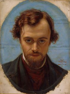 Dante Gabriel Rossetti May 1828 – 9 April was an English poet, illustrator, painter and translator. He founded the Pre-Raphaelite Brotherhood in 1848 with William Holman Hunt and John Everett Millais. His sister was the poet Christina Rossetti. Dante Gabriel Rossetti, John Everett Millais, John William Waterhouse, William Morris, Pre Raphaelite Paintings, L'art Du Portrait, Artistic Portrait, Christina Rossetti, Birmingham Museum