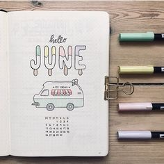 Friday Finds: Summer Bullet Journal Theme - The Petite PlannerYou can find Ice cream near me and more on our website.Friday Finds: Summer Bullet Journal Theme - The Petite Planner Bullet Journal Inspo, Planner Bullet Journal, Bullet Journal Notebook, Bullet Journal Aesthetic, Bullet Journal Spread, Bullet Journal Layout, Bullet Journal Ideas Pages, Journal Pages, Bullet Journals