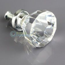 Lot 10 Clear Acrylic Crystal Knob 31mm Cabinet Drawer Furniture Hardware Handles