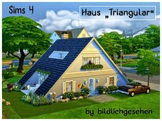Akisima Sims Blog: Triangular house • Sims 4 Downloads