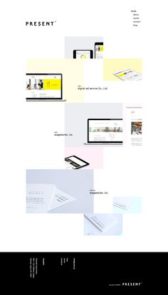 PRESENT \\ Nice minimalist Japanese folio. http://presnt.jp