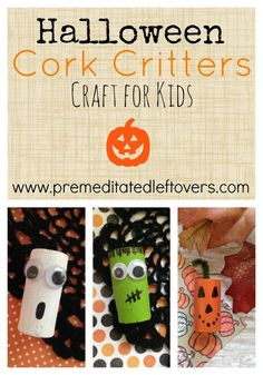 DIY Halloween Cork Critters- Do you have a handful of wine corks around the house? These little cork creatures make the perfect frugal Halloween craft. Wine Craft, Wine Cork Crafts, Wine Bottle Crafts, Wine Bottles, Thanksgiving Crafts, Holiday Crafts, Thanksgiving Table, Halloween Kids, Halloween Crafts