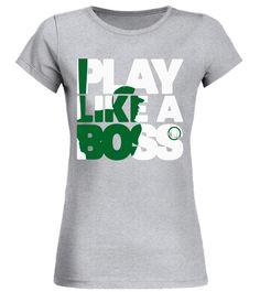 Cool PLAY LIKE A BOSS Mens Baseball T-Shirt