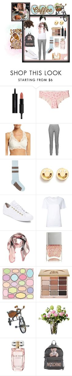 """""""coffee & BFF"""" by killasuki ❤ liked on Polyvore featuring Givenchy, Hollister Co., Fleur't, Belstaff, Marni, Ruifier, Converse, Astraet, Burberry and Nails Inc."""