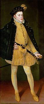 Don Carlos, Prince of Asturias, Son of Philip II of Spain Maria Manuela of Portugal who died one month after his birth.(1545-1568) - Wikipedia, the free encyclopedia