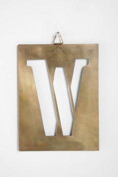 industrial stencil letter - W $8