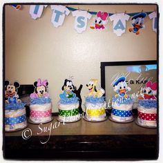 Hey, I found this really awesome Etsy listing at https://www.etsy.com/listing/262723381/baby-disney-characters-diaper-cake-mini