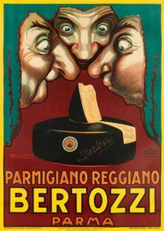 Art Poster: #FreeShipping Bertozzi Parma 1930 Vintage Advertising Reproduction Canvas Print 20X28