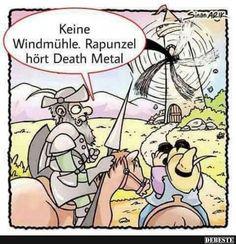 Keine Windmühle. Rapunzel hört Death Metal.. | Lustige Bilder, Sprüche, Witze, echt lustig