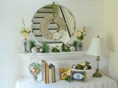 White Entryway Mirror Decoration Design ~ http://lovelybuilding.com/decoration-tips-how-to-apply-entryway-mirror-decoration/