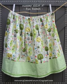 Easy skirt sewing project inspiration.