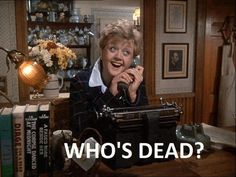 """""""This is everything I love about Murder She Wrote and Angela Lansbury:"""" Murder Mysteries, Cozy Mysteries, Detective, Jesse Stone, Cabot Cove, Angela Lansbury, Mystery Books, Old Tv, I Laughed"""