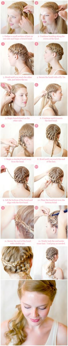 Hair Tutorial: Crowned Braid with Side Pony