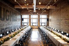 The Loft Wedding - Ideal for long table reception seating longtablereception Long Table Reception, Loft Wedding Reception, Reception Seating, Warehouse Wedding, Space Wedding, Wedding Seating, Wedding Venues, Long Tables, Loft Spaces