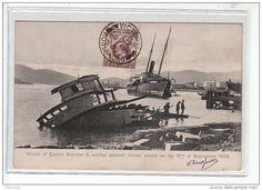 HONG KONG - Epave de deux steamers après le typhon du 18 Septembre 1906 - très bon état