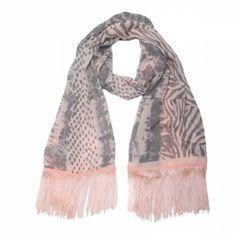 Roze sjaal met zebraprint