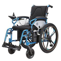 Lightweight Dual Function Foldable Power Wheelchair (Polymer Li-ion Battery), Drive with Power or use as Manual Wheelchair. (Electric Motorised Wheelchair) Wheelchair88