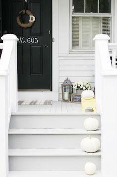 Hometown Girl : Fall Porch.