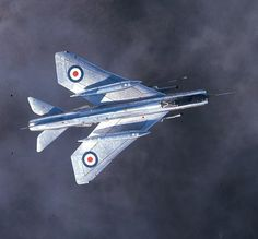 The first Lightning in service, of 74 Squadron at Leuchars ©Crown / IWM RAF-T 6970 Air Force Aircraft, Navy Aircraft, Fighter Aircraft, Fighter Jets, Military Jets, Military Aircraft, Avro Vulcan, Airplane Drawing, Aircraft Pictures