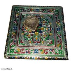 Pooja Needs Decorated Religious Item Material: Wood Size: ( L x W ) 8 in x 8 in Description: It Has 1 Piece Of Meenakari Puja Chowki Country of Origin: India Sizes Available: Free Size   Catalog Rating: ★4.3 (434)  Catalog Name: Essential Decorated Religious Items Vol 4 CatalogID_388357 C128-SC1315 Code: 332-2859385-