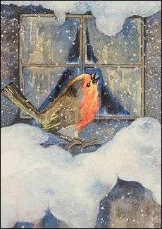 Rothkehlchen im Schnee - Milli Weber