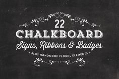 Check out Chalkboard Signs, Ribbons & Badges by MakeMediaCo. on Creative Market