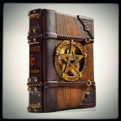 aLexLibris: The Necronomicon journal - 9 x 7 inches wooden/leather journal