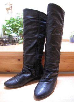 Kaufe meinen Artikel bei #Kleiderkreisel http://www.kleiderkreisel.de/damenschuhe/stiefel/137385232-schwarze-lederstiefel-von-buffalo-in-grosse-38