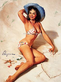 It was an Itsy Bitsy Teeny Weeny Polka Dot Bikini   -- Gil Elvgren