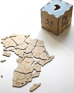African puzzle by dubaruba. Learn interactive the African countries Photo by Anne-Sophie Wass