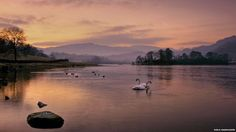 Wintry dusk over Rydal Water. by Niels Rasmussen.