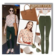 """""""Anna Kendrick - Airport style - Ann Taylor Blouse"""" by anne-mclayne ❤ liked on Polyvore featuring Via Spiga, Lancel, Ann Taylor, Miss Selfridge, Oliver Peoples, Larsson & Jennings, GetTheLook, CelebrityStyle, annakendrick and airportstyle"""