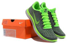 73b95f9785c8 Nike Free 3.0 V4 Womens New Electric Green Dark Grey Silver 511457 030  Workout Shoes