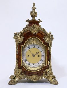 Rococo period clock , by John ellicot made with walnut and silver gilt Mantel Clocks, Old Clocks, Antique Clocks, Vintage Clocks, Plywood Furniture, Eames, Clock Tattoo Design, French Clock, London Clock