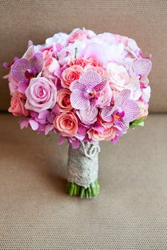 Gorgeous bouquet of roses & orchids..<3