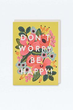 Carte Don't Worry Be Happy - Urban Outfitters