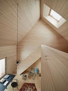 Haus am Moor is a minimalist house located in Krumbach, Austria, designed by Bernardo Bader Architects. Within the private forest of Schwarzenberg, the wood was selected, felled, cut, and installed. An overall of 60 spruces, firs and elms were used for construction panels, doors, floor structure and floor boards. (9)