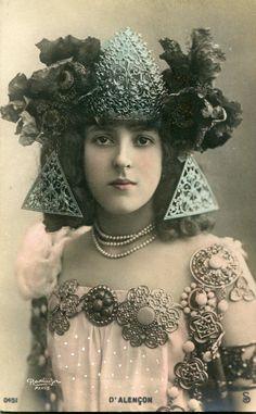 Vintage French RPPC Postcard Actress Miss D' Alencon Reutlinger P509 | eBay