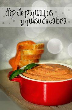 Dip de piquillos y queso de cabra // red pepper and goat cheese dip (recipe in Spanish)