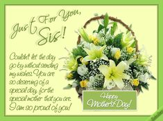 Pin by regina on mothers day pinterest trust 2017 quotes and a mothers day ecard for your sister let her know how proud you are of m4hsunfo