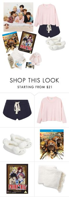 """Sleepover/Movie Night with BTS"" by bts-inspired ❤ liked on Polyvore featuring Eberjey, Monki, Accessorize, Nordstrom Rack and Jellycat"