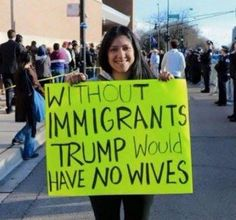 Without Immigrants #Trump Would Have No Wives.