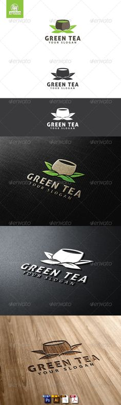 Green Tea Logo Template  #GraphicRiver         Green Tea Logo Template is An excellent logo template highly suitable for logo company, office, organization, cafe, restaurant, coffee shop  	 These files consists of resizable vector format files like AI, EPS , and PDF .